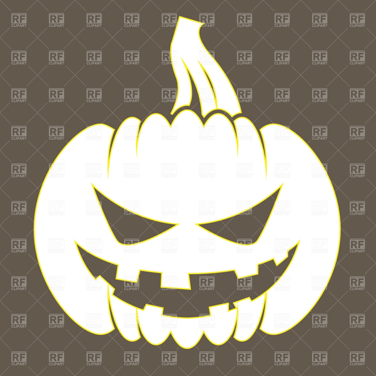 Halloween symbols silhouettes.