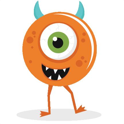Free halloween monster clipart.
