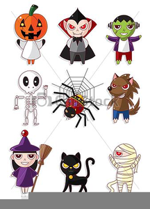 Cartoon Halloween Monster Clipart.