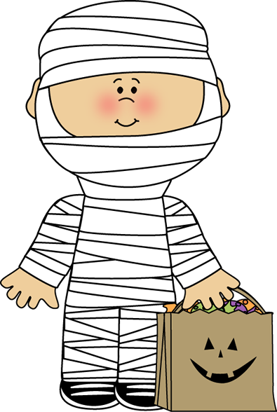 Mummy Boy Clip Art Image.