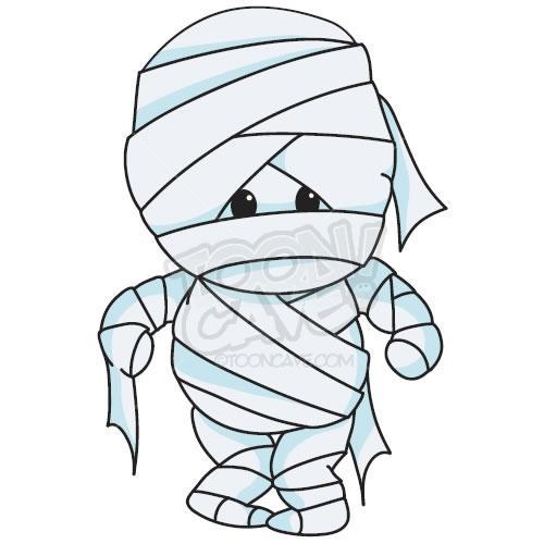 Halloween Mummy Clipart 4.