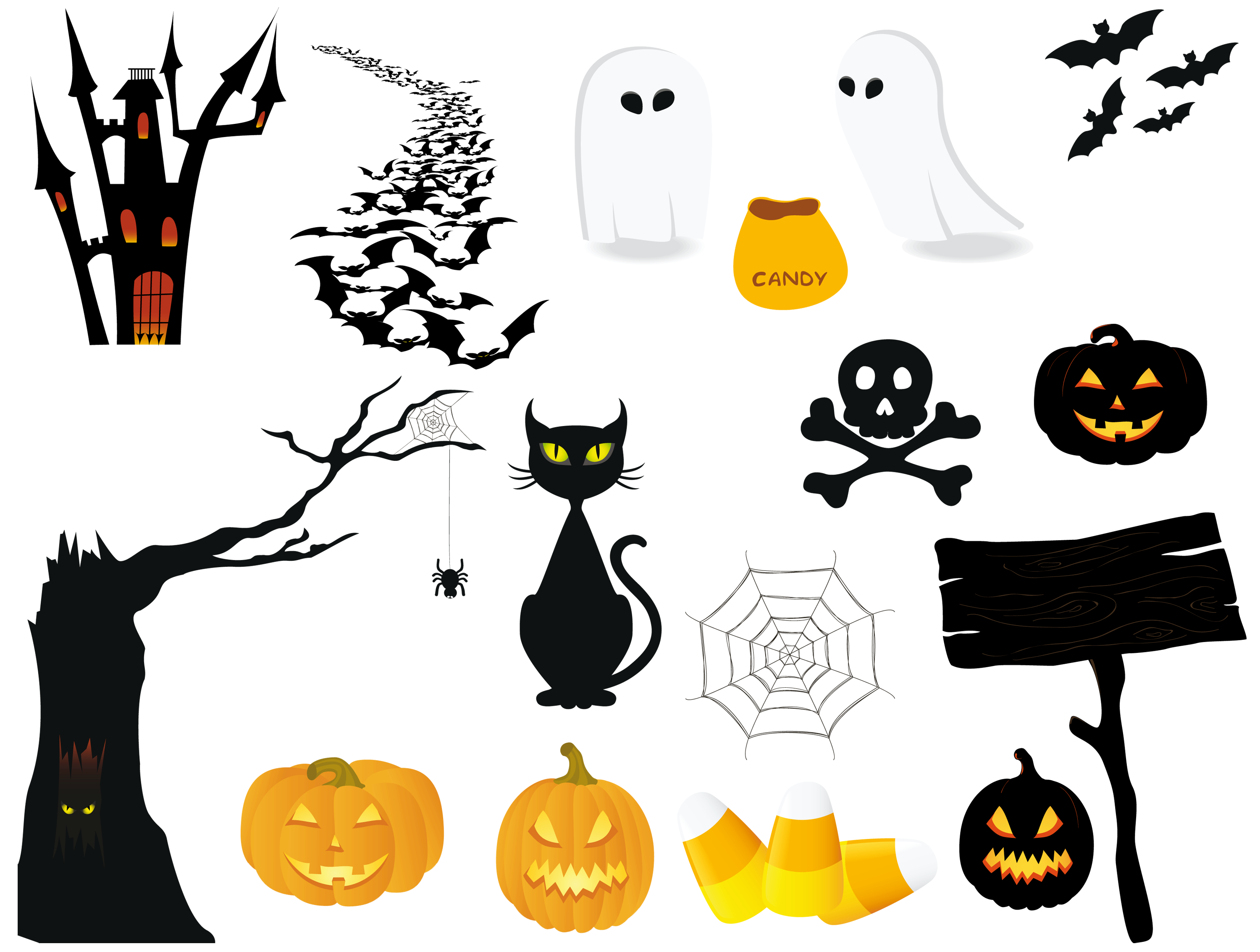 Halloween PNG Pictures Collection.