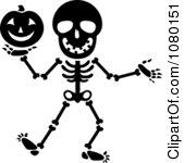 Halloween Skeleton Clipart.