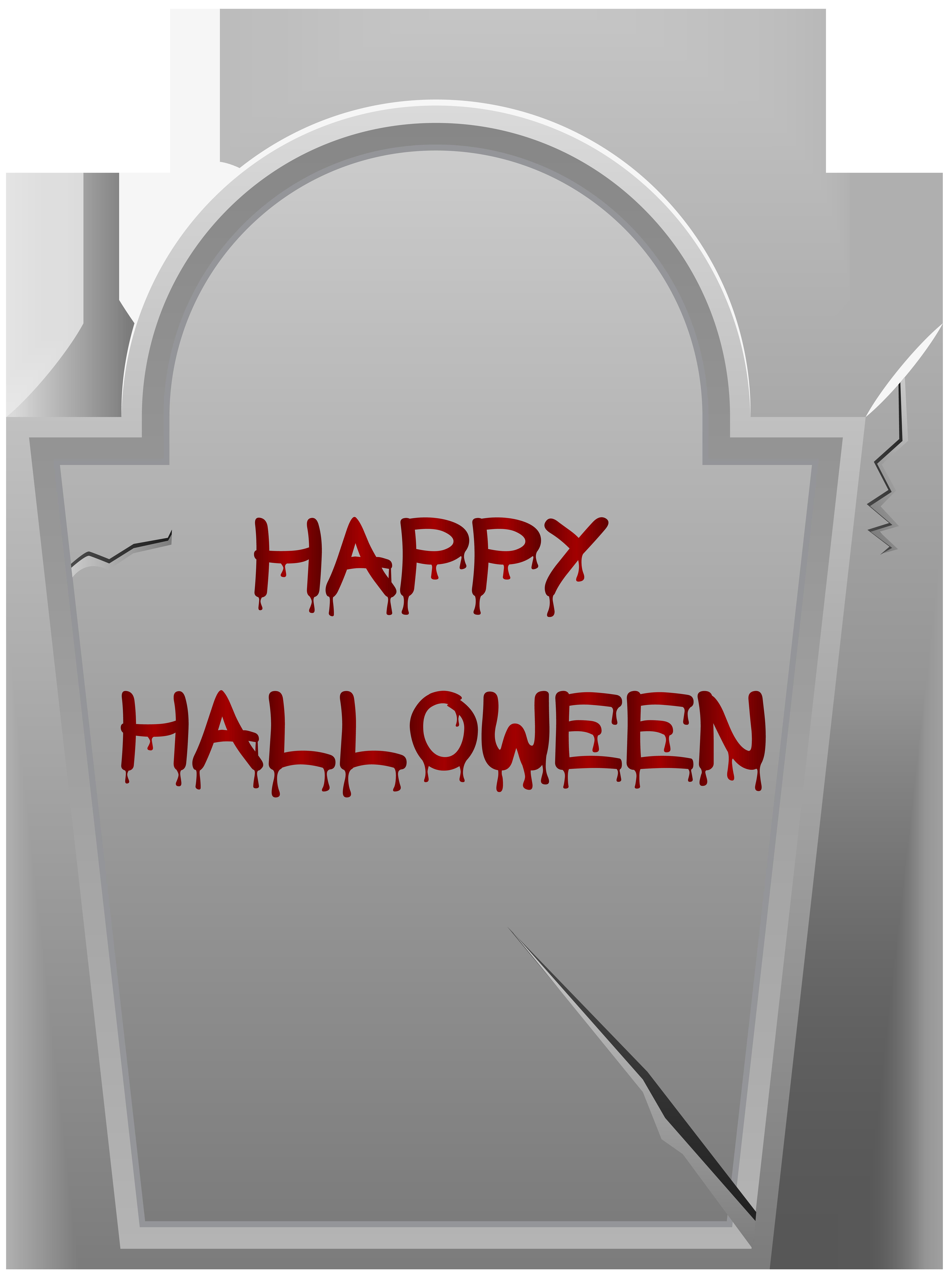 Happy Halloween Tombstone PNG Clip Art Image.