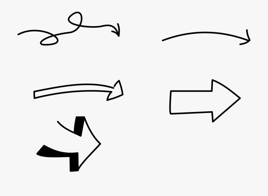 Hand Drawn Arrow Clipart.