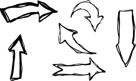 Hand drawn arrow free vector download (8,982 Free vector.
