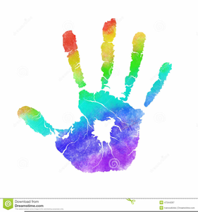 Kid Handprint Clipart.