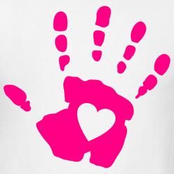 Red Hand Print Clip Art.