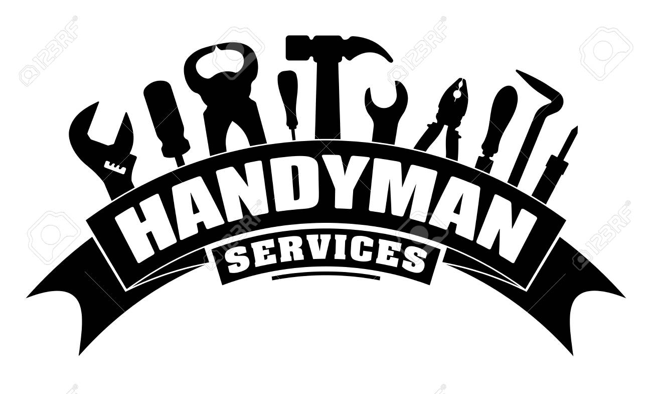 Handyman services vector design for your logo or emblem with...