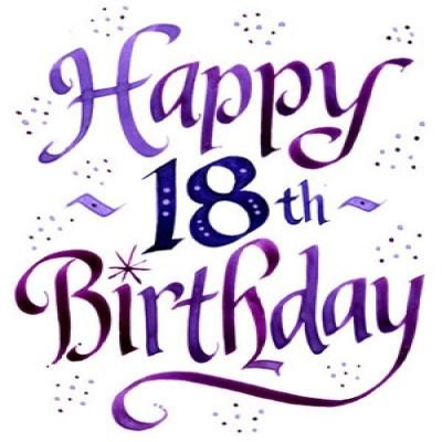 Happy 18th Birthday Clipart.