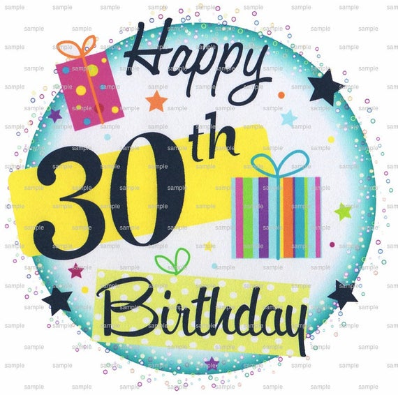 Happy 30th Birthday.