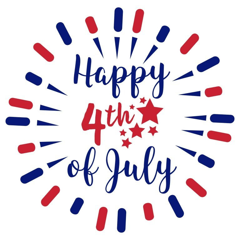 Happy 4th of July Clipart 2019.