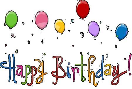 Free Happy Birthday Clipart Graphics.