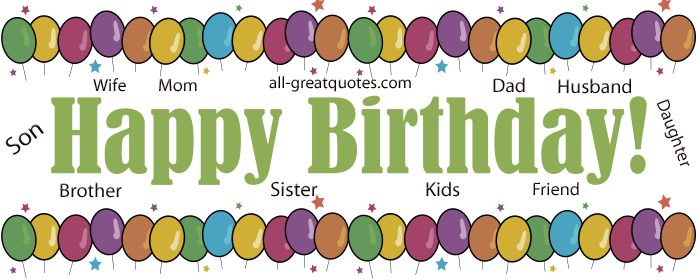 Free Birthday Cards For Facebook Online Friends Family.