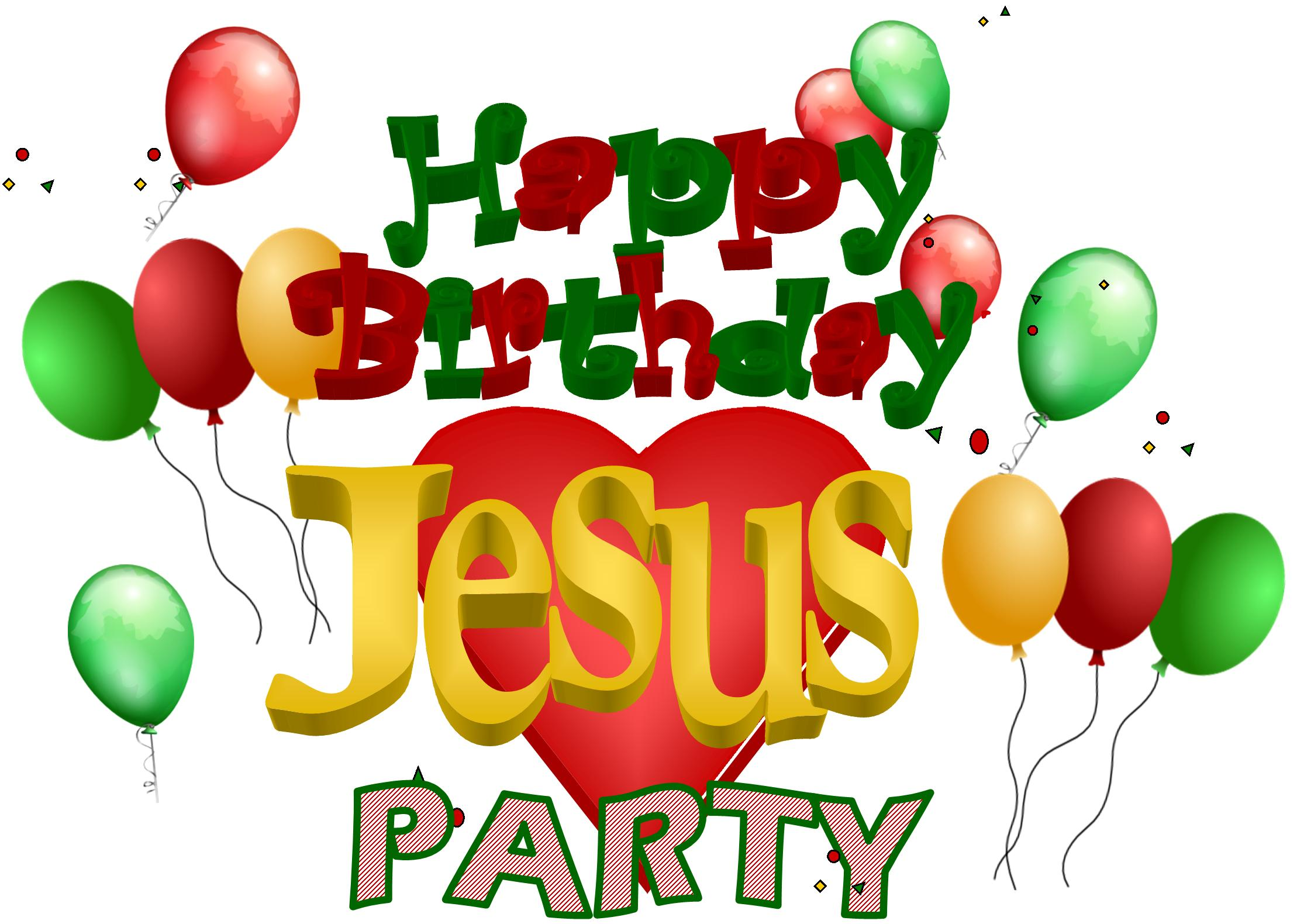 Birthday Party For Jesus Clipart.