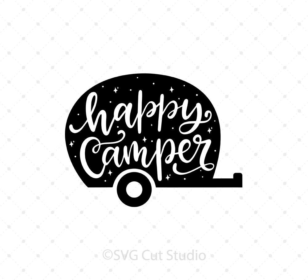 Happy Camper SVG Cut Files.