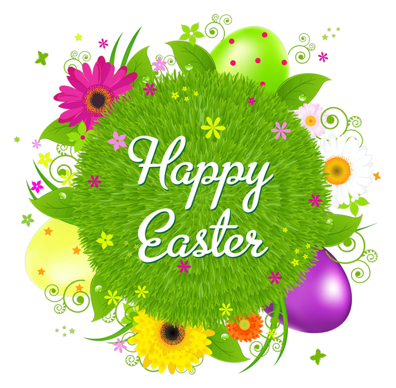 Happy Easter Transparent Decor PNG Clipart Picture.