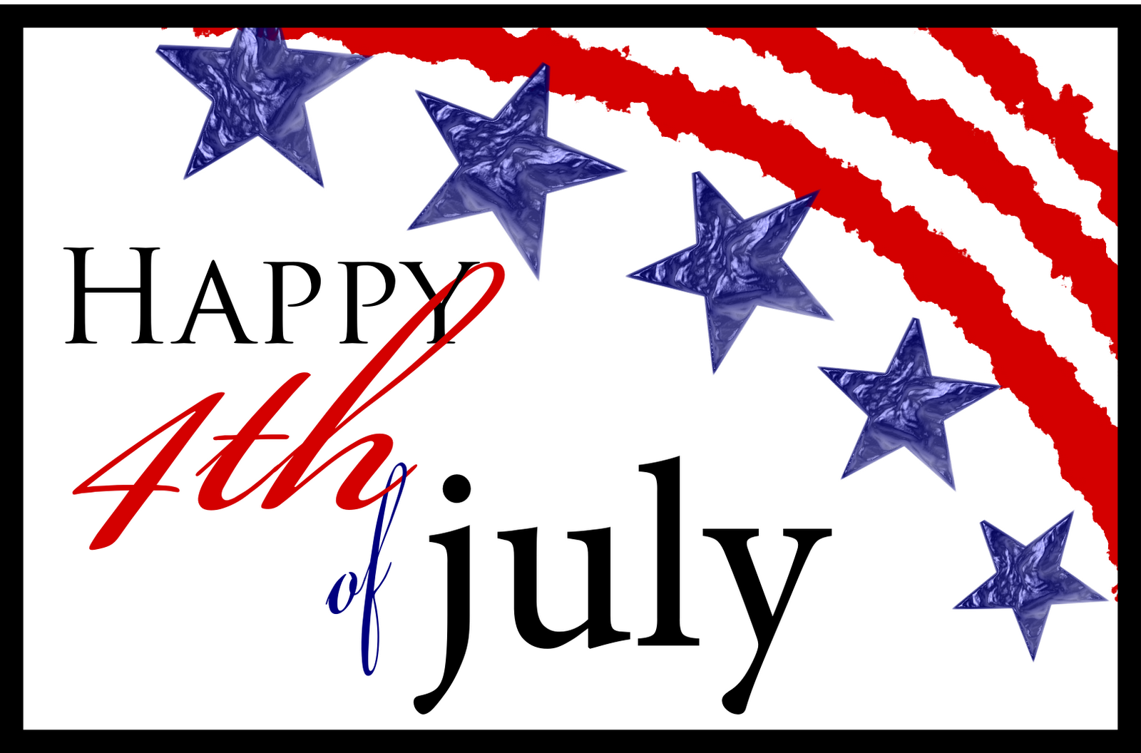 Free Happy 4Th Of July Clipart Black And White, Download.