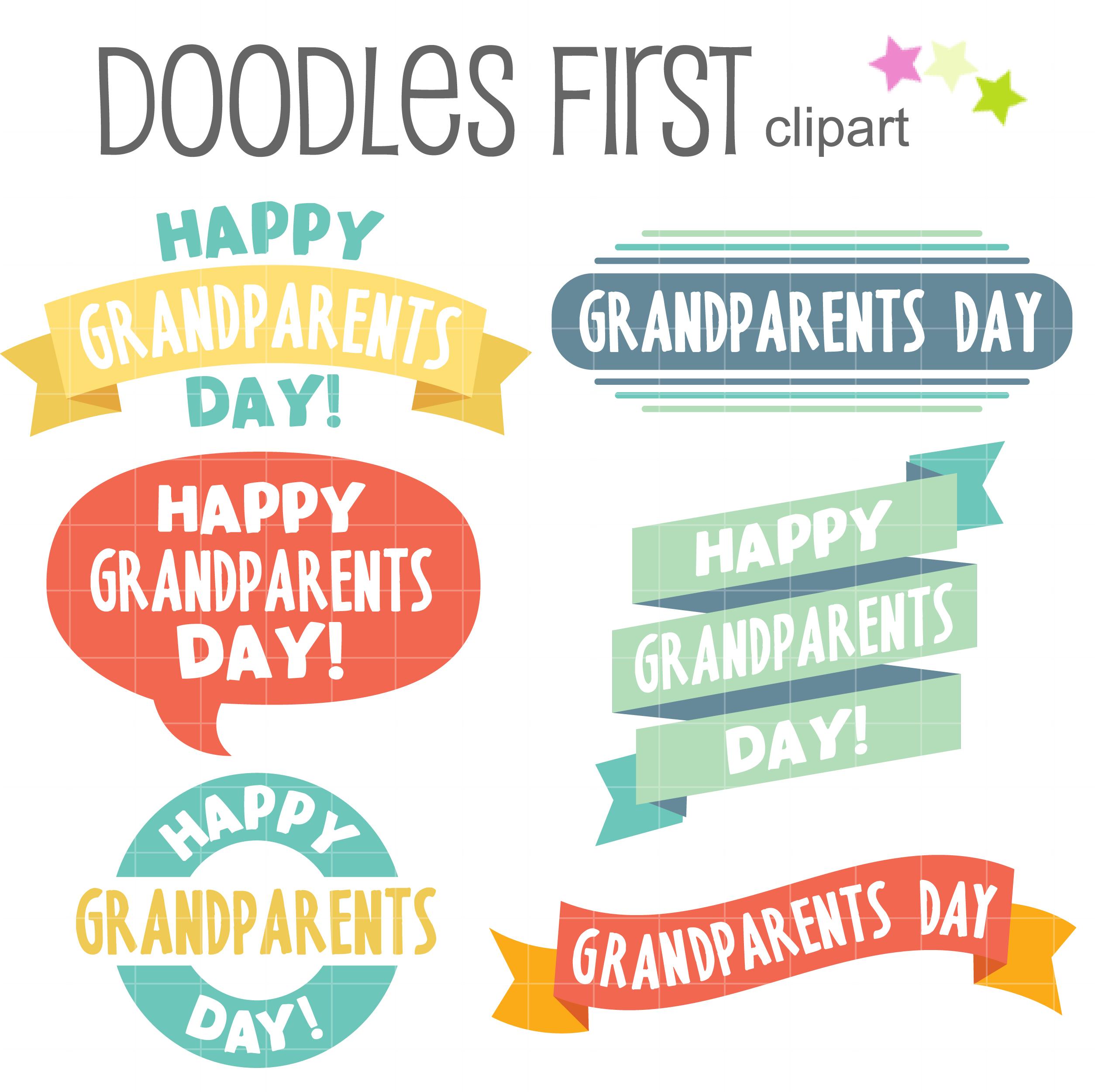 Happy Grandparents Day Art Set.
