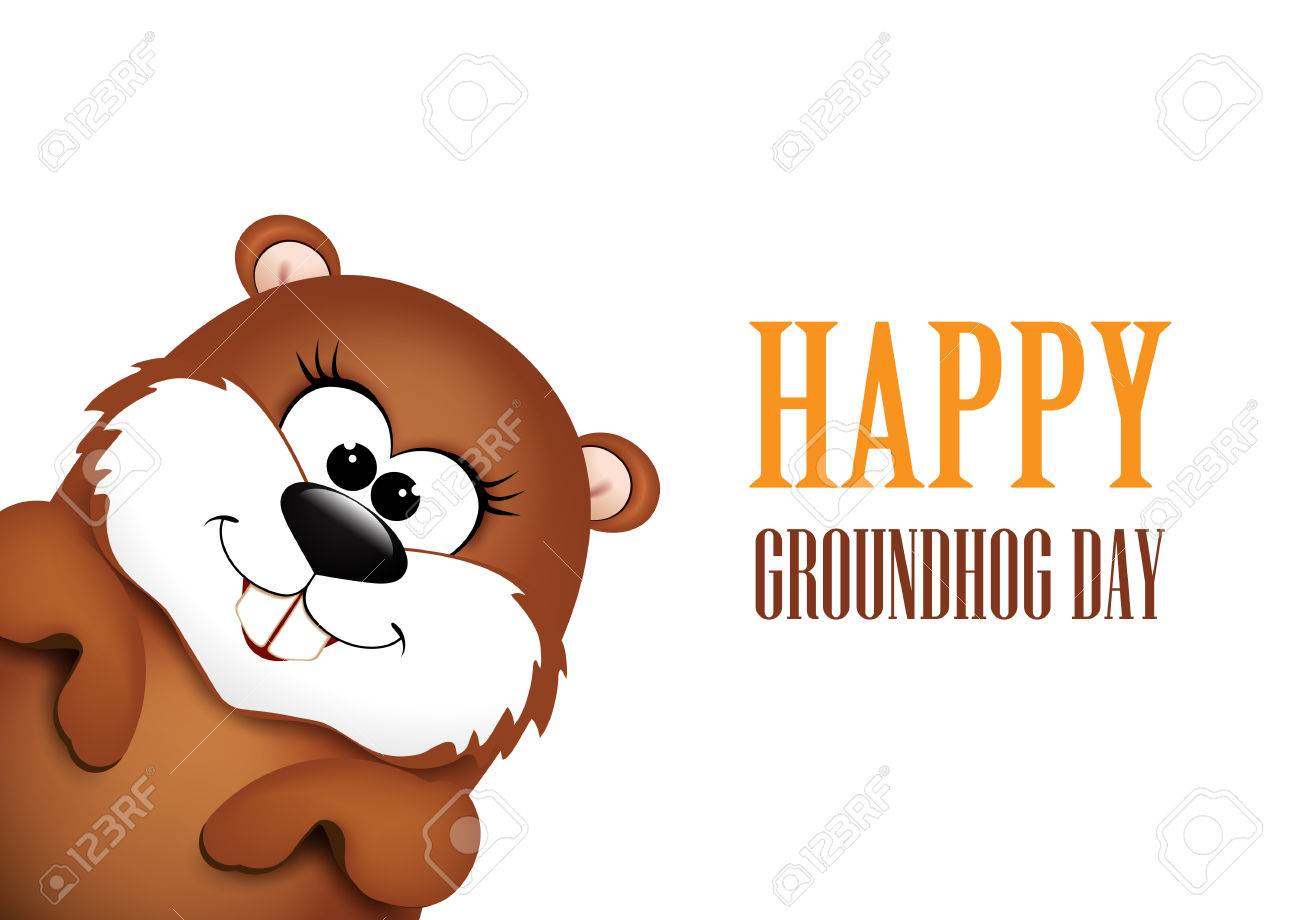 Happy Groundhog Day design..