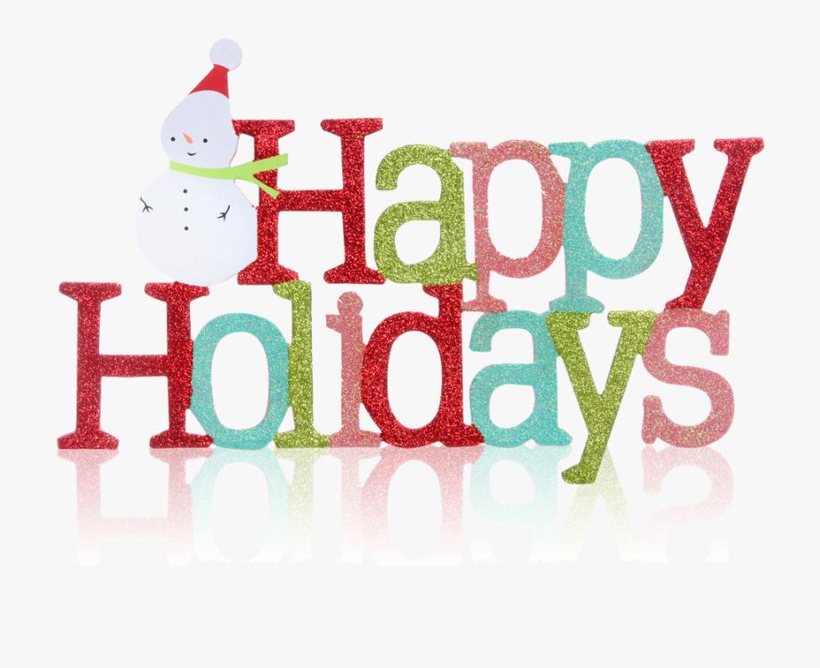 Happy Holidays Non Denominational , Transparent Cartoon.