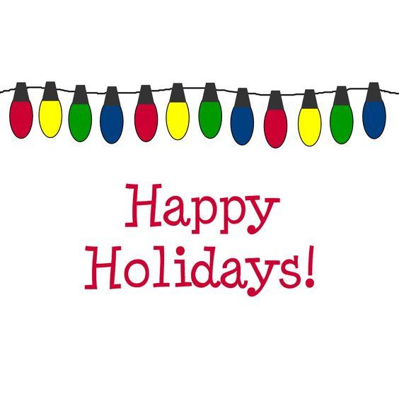 2580 Happy Holidays free clipart.