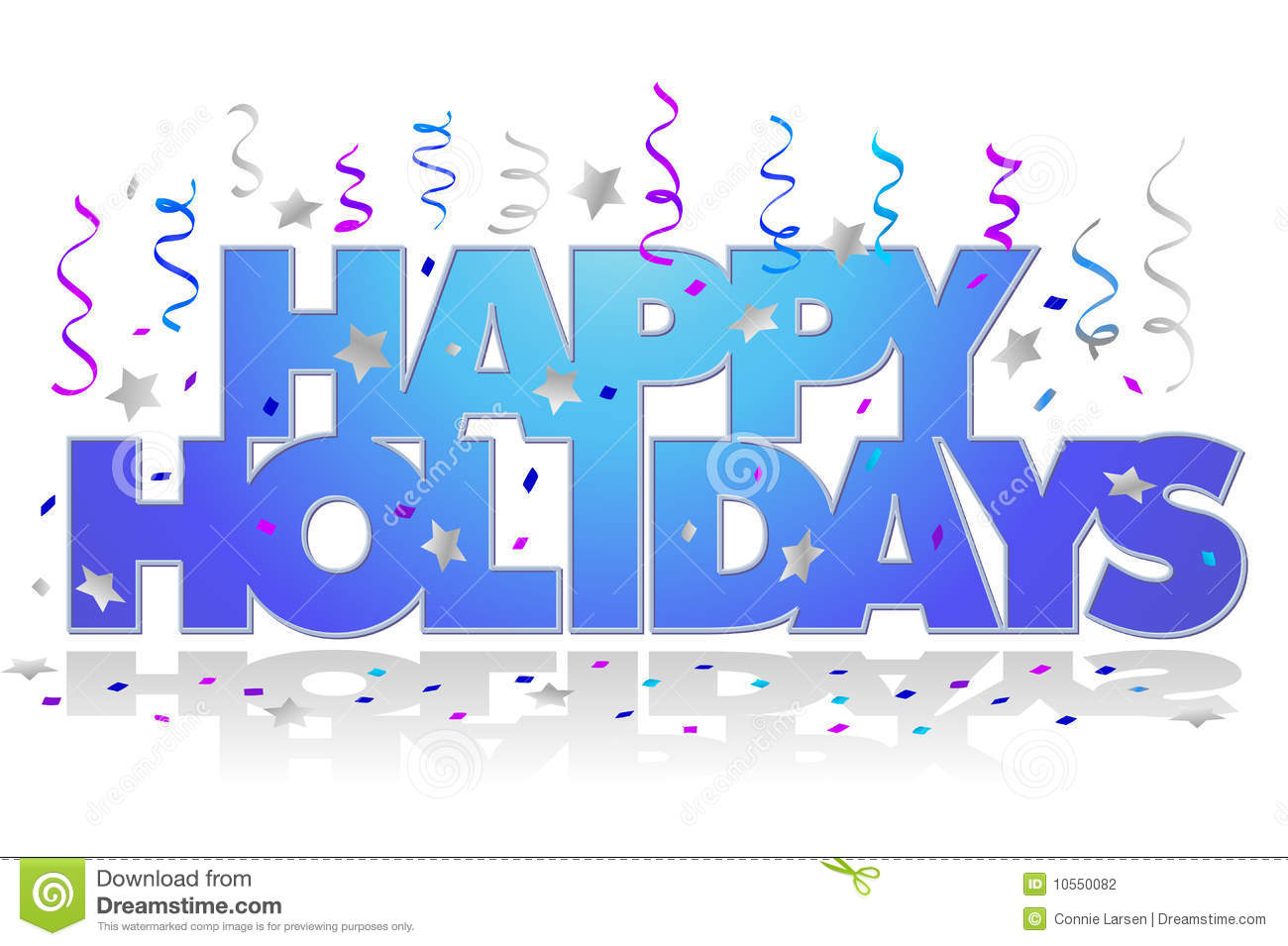 Happy Holidays Clip Art.