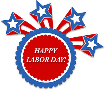 Free labor day clipart graphics.