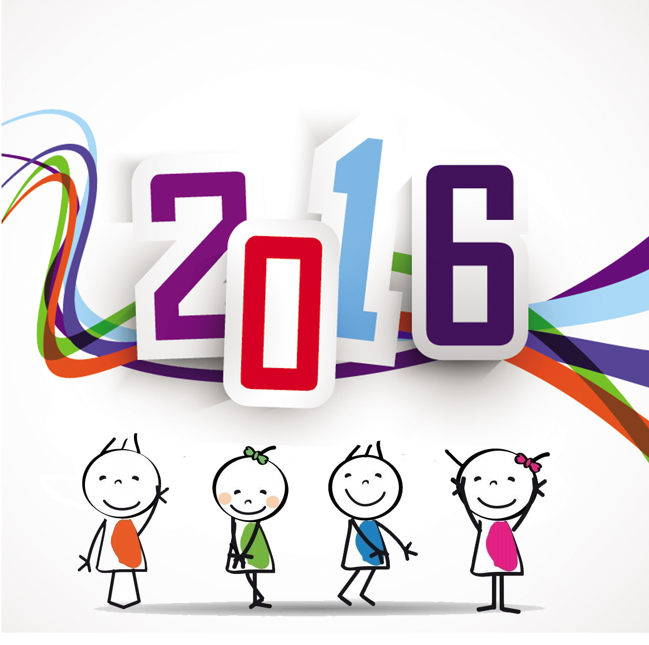 Free clip art Happy new year 2016 Coloring Point Coloring.