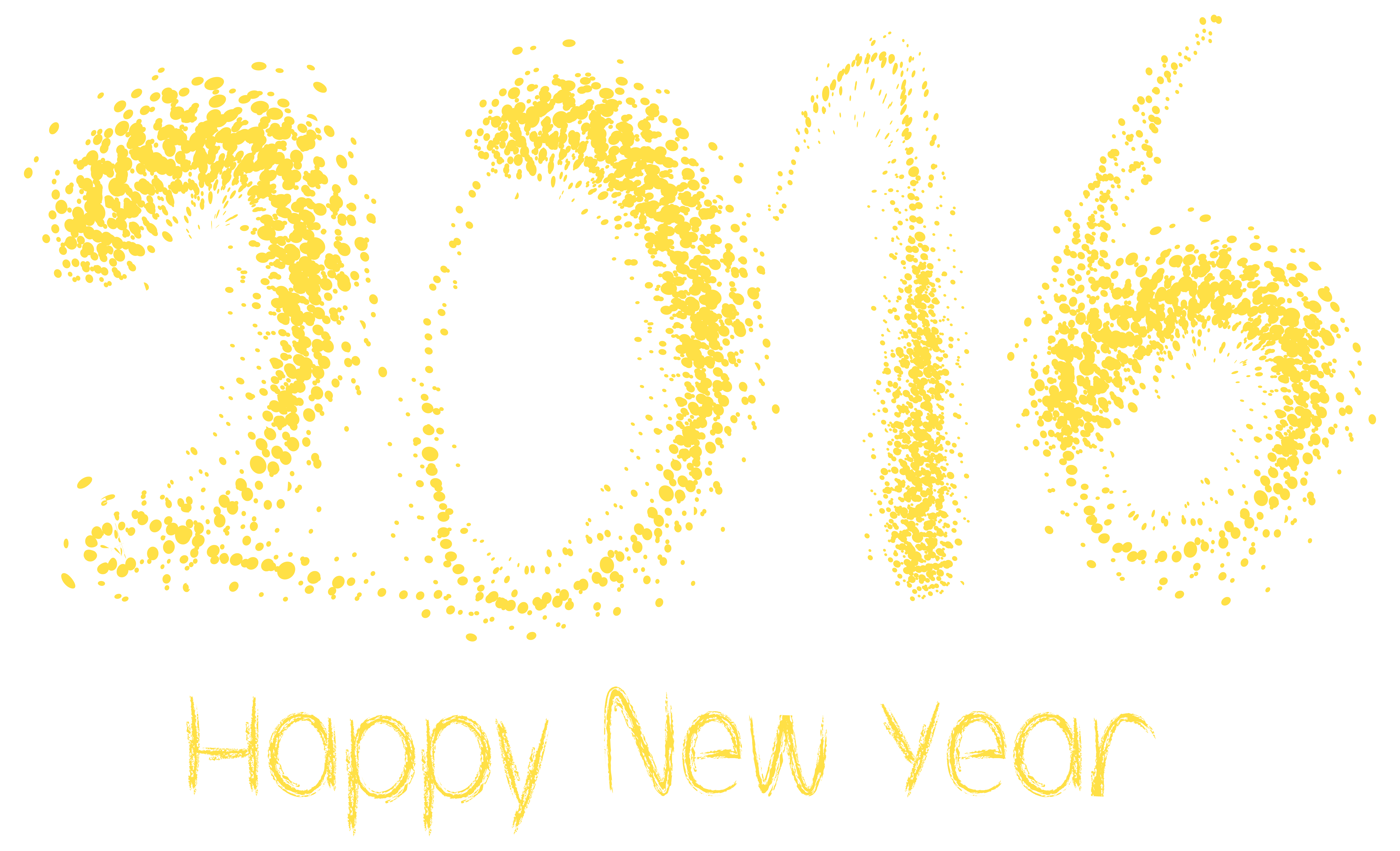 2016 Happy New Year PNG Clipart Image.