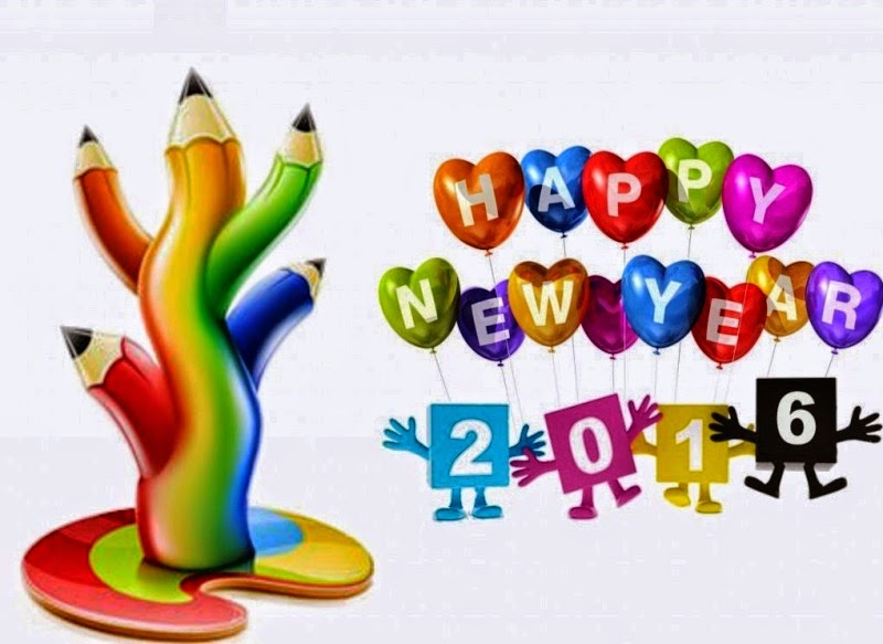 Happy New Year 2016 Clipart.