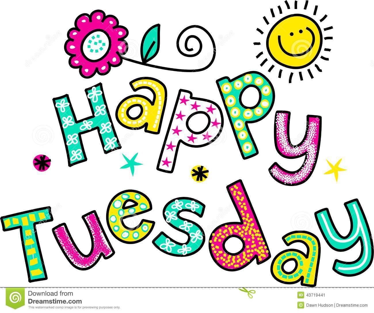 Happy Tuesday Funny Clipart.