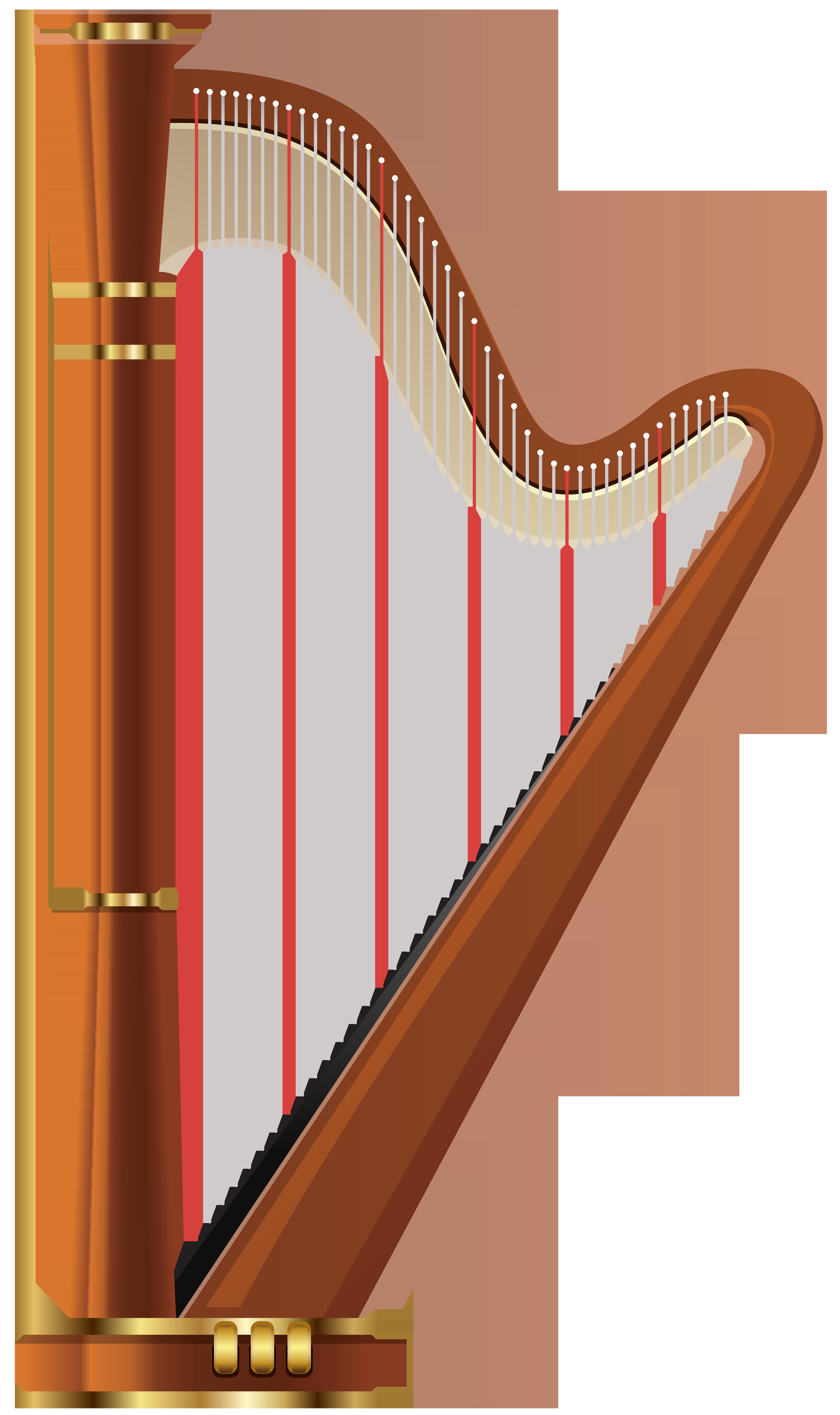 Harp Transparent PNG Clip Art.