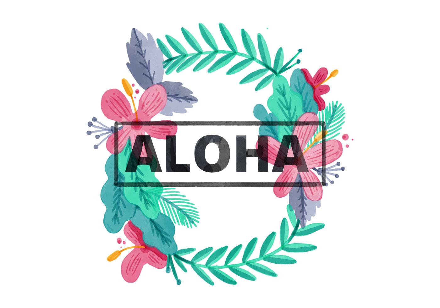 Hawaiian Background Free Vector Art.