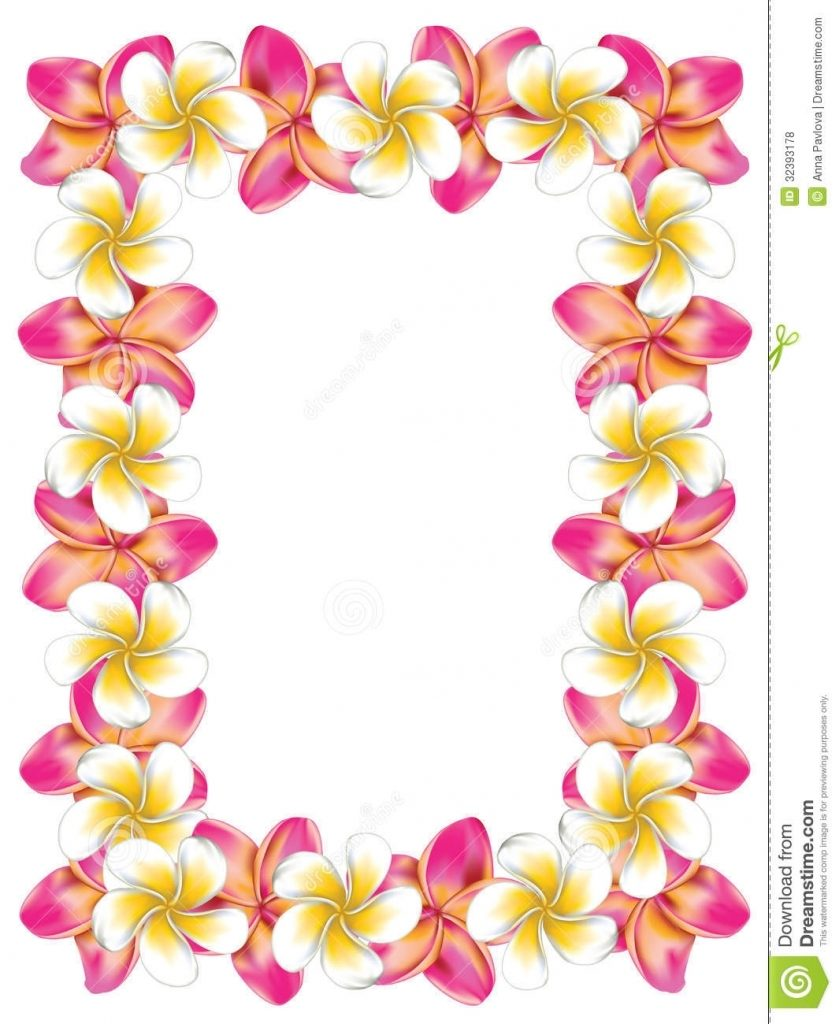 Hawaiian Lei Drawing.