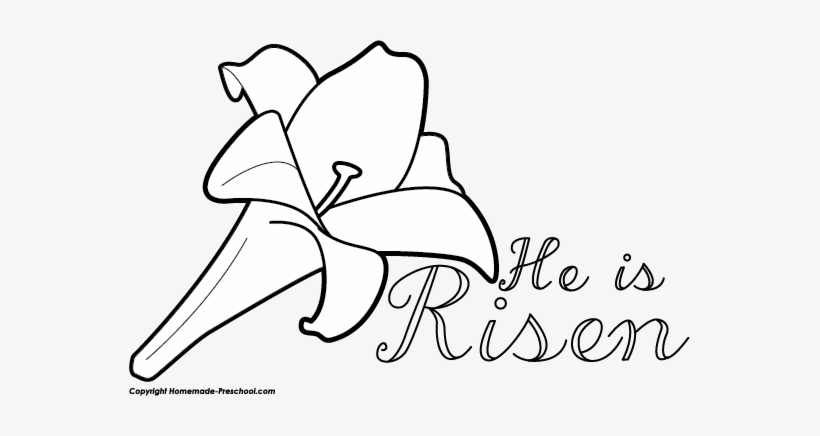 He Is Risen Clip Art Black And White.
