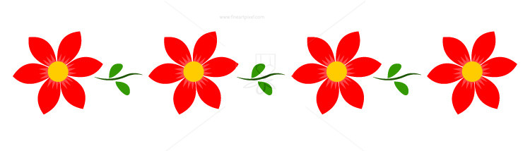 Flower Header Cliparts.
