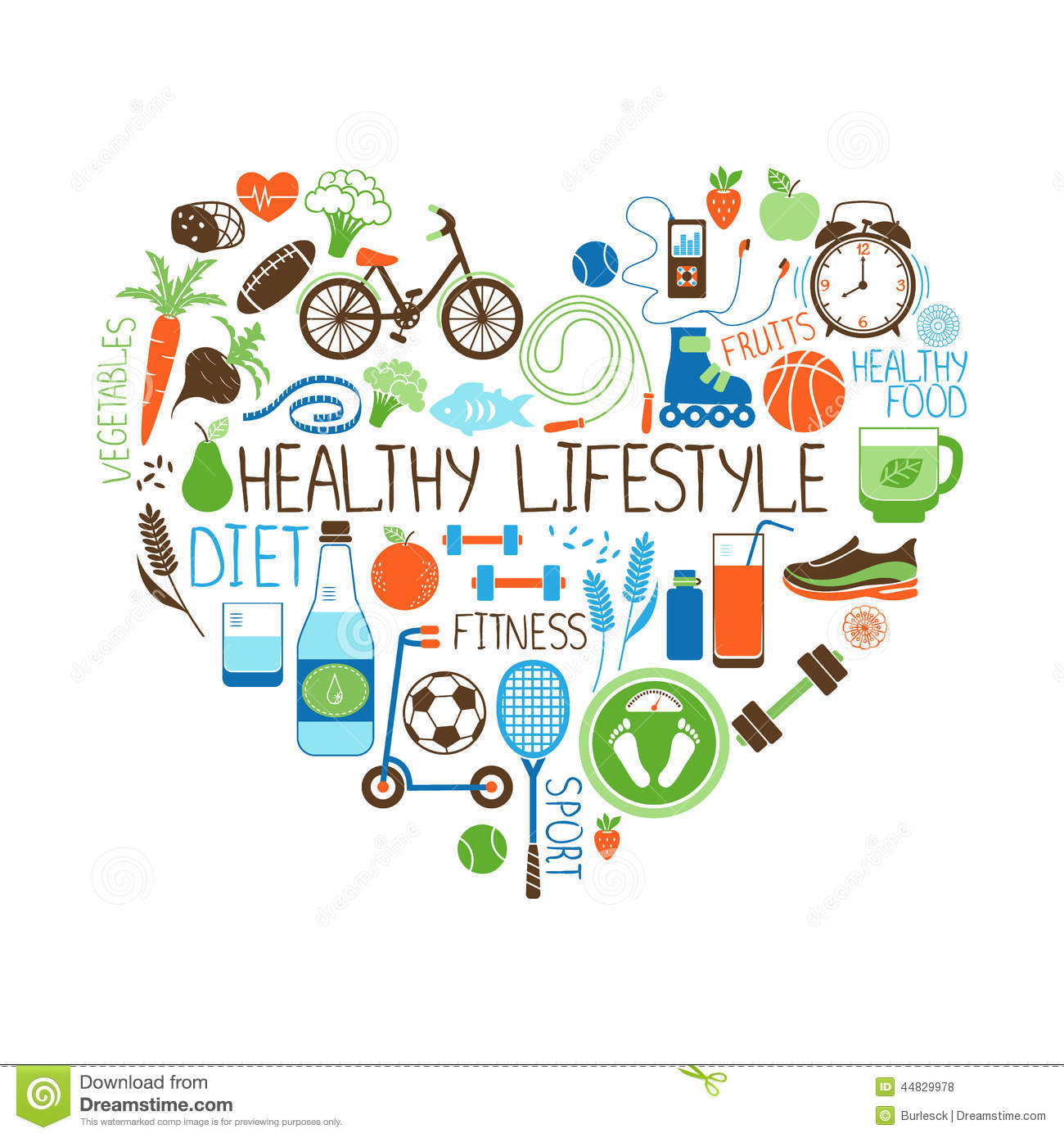 Fitness And Health Clipart.