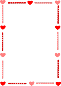 Free Heart And Candy Border Clip Art.