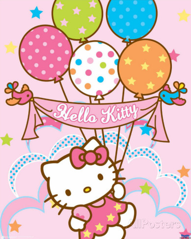 Free Hello Kitty With Balloons Png, Download Free Clip Art.