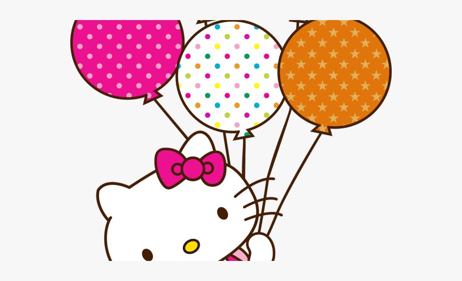 Ballons Clipart Hello Kitty.