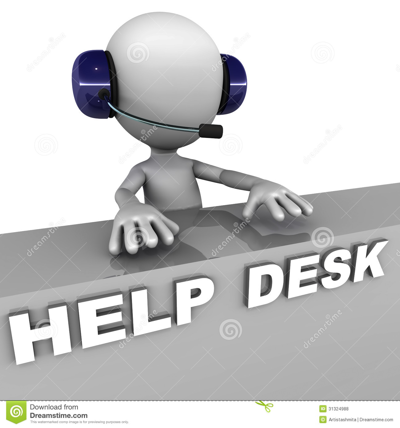 Support Help Desk Clipart.