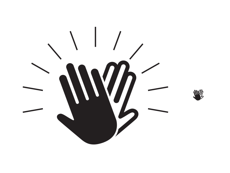 Free High Five Clipart Black And White, Download Free Clip.