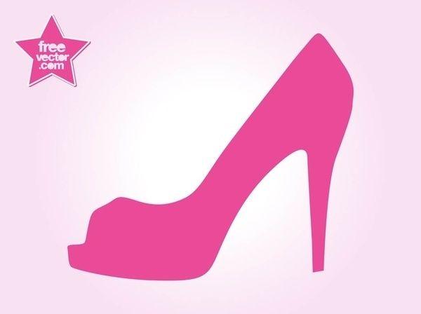 High heel shoe free vector freevectors clip art.