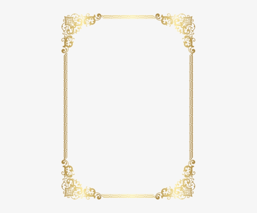 Gold Border Frame Transparent Clip Art Image High Quality.