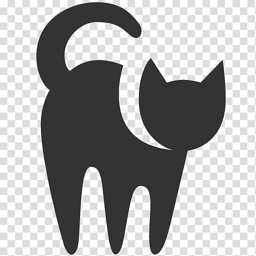 Cat silhouette illustration, Black cat Dog Computer Icons, Free High.
