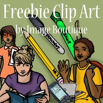 Free older student (high school or middle school) clip art on TpT.