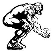 1656 Wrestling free clipart.