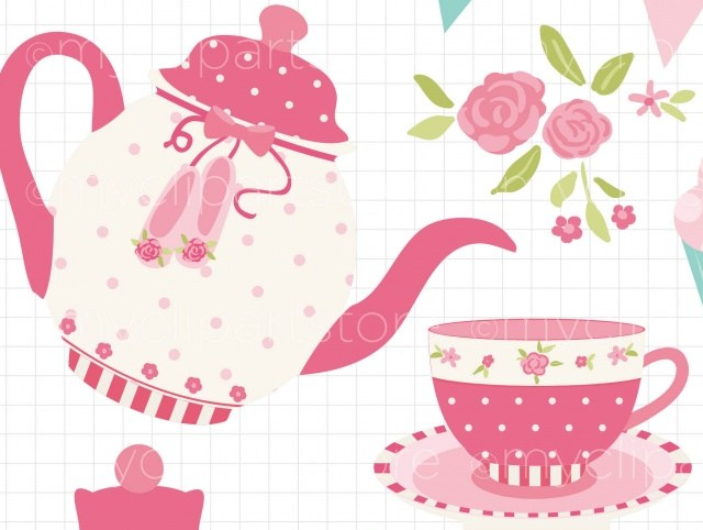 Tea Party Clip Art Group (+), HD Clipart.