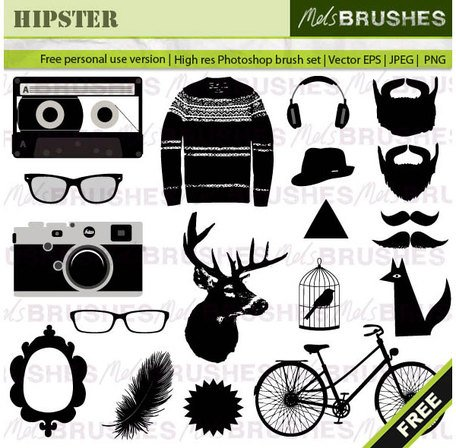 Hipster Vector Graphics Free Clipart Picture Free Download.